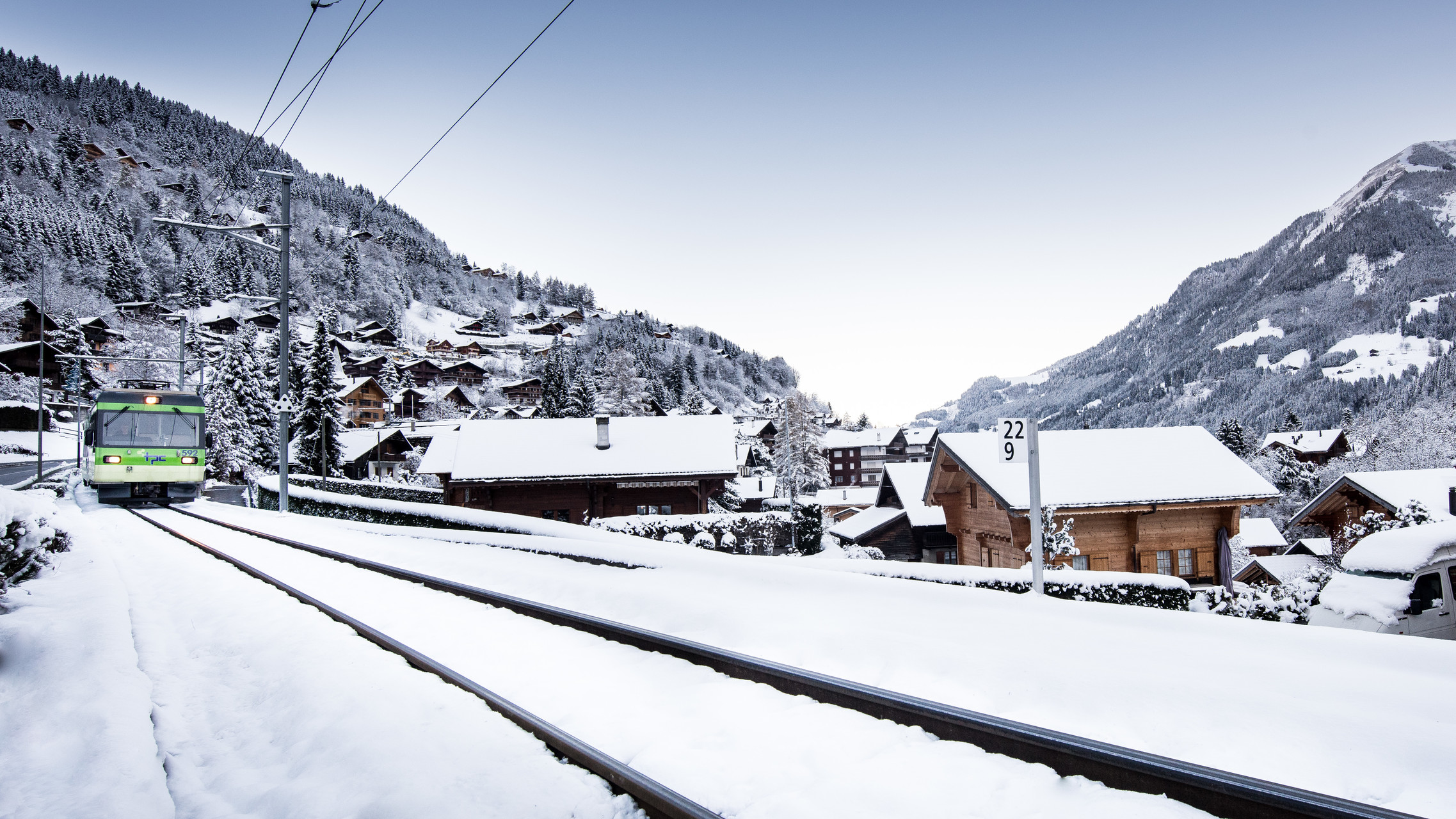 Champery mountain railway Switzerland
