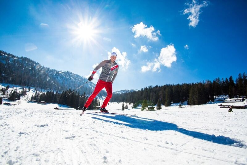 Cross country skiing in Ruhpolding, Germany