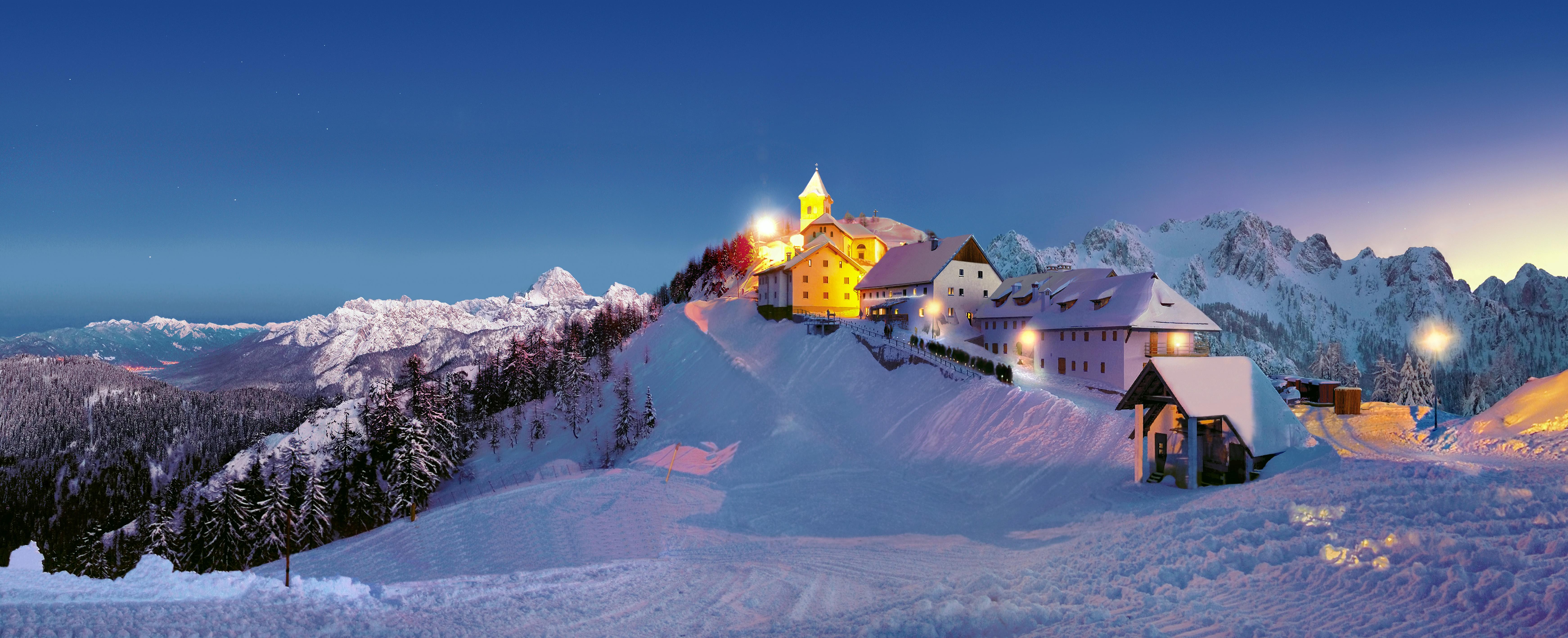 Left To Right The Weekly Ski Show In St Anton Austria TVB Am Arlberg Santuario Monte Lussari Italy Ph Costerni ESF School Champry